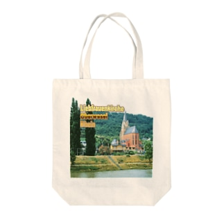 FUCHSGOLDのドイツ:ライン川と教会 Germany: Church at Rhein/ Oberwesel Tote bags