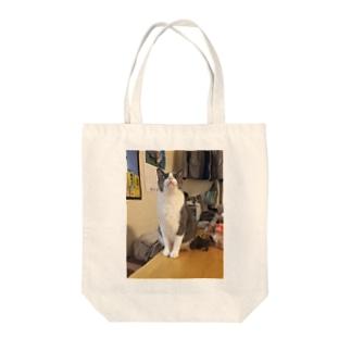 こてにゃん(おめめ) Tote bags