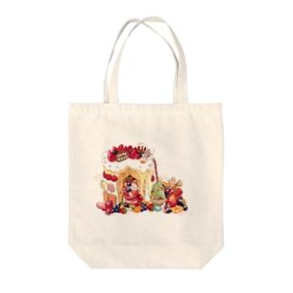 クリスマスのお家 Tote bags