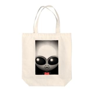 リアルグレー Tote bags