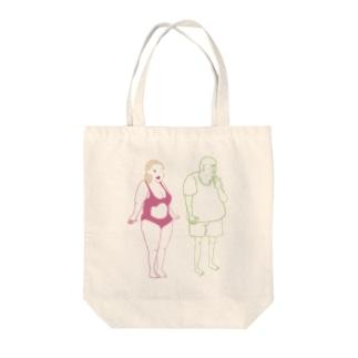 HUMAN展記念Tシャツ Tote bags