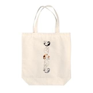 丸まるネコさん Tote bags