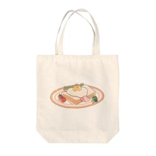 くまさんモーニング Tote bags