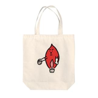 キャラNo.59炎色反応レッド(リチウム) Tote bags