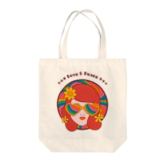 LOVE & PEACE Tote bags