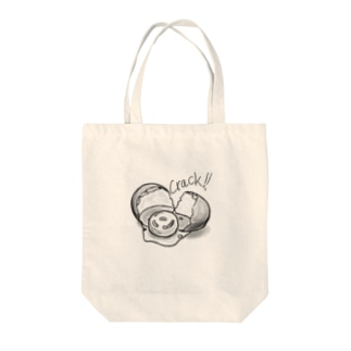 Cracked egg Tote bags