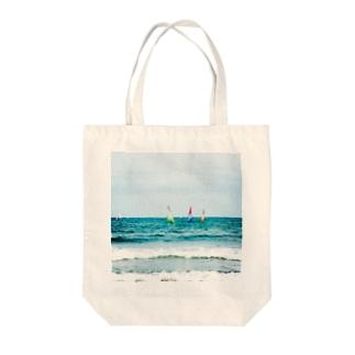 海と空と青 Tote bags