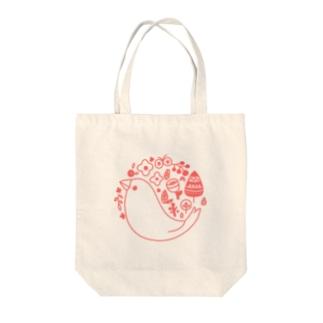 北欧風ロゴマーク文鳥 Tote bags
