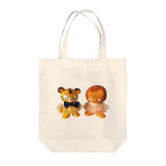 トラ君ライオン君 Tote bags