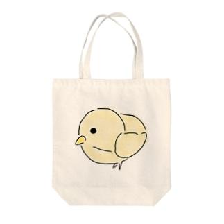 リアルひよこ Tote bags