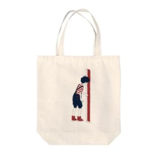 あけるくん Tote bags