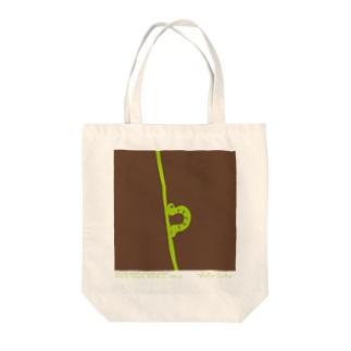 【hitocoto】イモムシ Tote bags