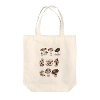 Natural history #1  Mushrooms Tote bags