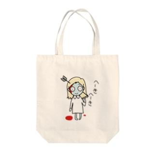 ミミー the へーきへーき Tote bags