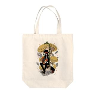 ミキワカコの森の演奏家 Tote bags