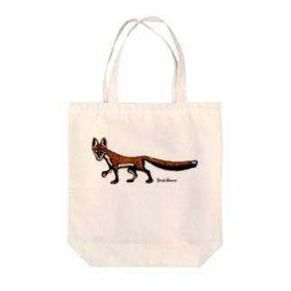 """Dark blanco """"Fox"""" Tote bags"""
