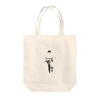 透明サイクラー(ロゴなし) Tote bags