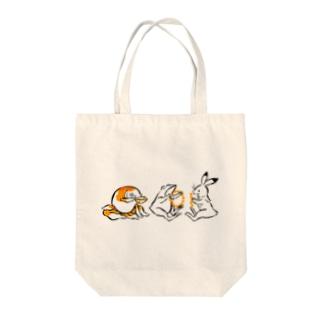 鳥獣戯画と金魚 Tote bags