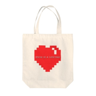 once in a lifetime Tote bags