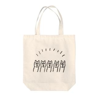 りゃまぱかしゅうごう Tote bags