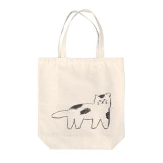 ブチネコ Tote bags