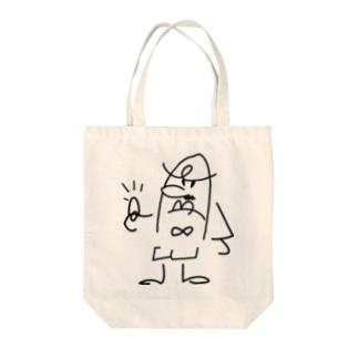 ゆび刑事 白地 Tote bags