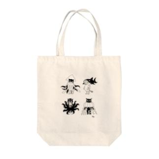 着ぐるみねこ【海の生き物】 Tote bags