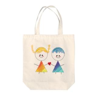 恋してるふたり Tote bags