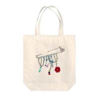 うさぎブローチ Tote bags