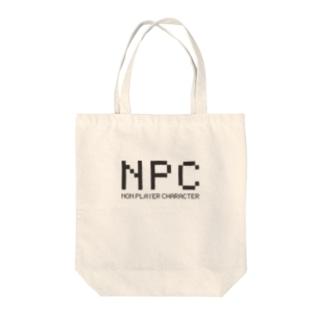 NPC NON PLAYER CHARACTER Tote bags