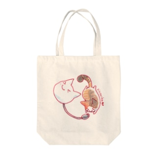 ねこさんと三毛猫 Tote bags