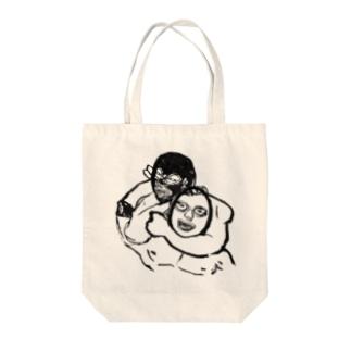スリーパーホールド Tote bags