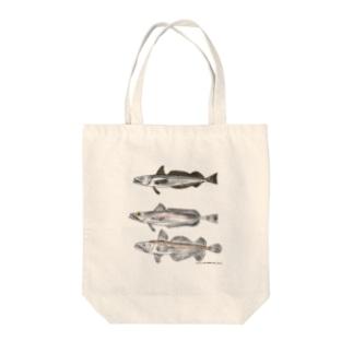 3匹のメルルーサ Tote bags