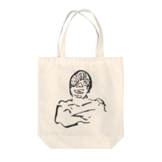 ムキムキマスクマン Tote bags