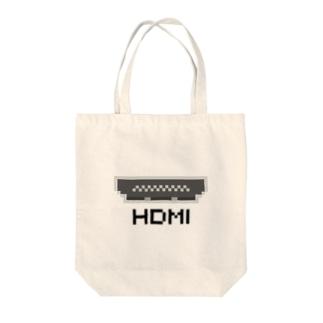 ドットHDMI 黒 Tote bags