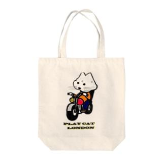 biker playcat Tote bags