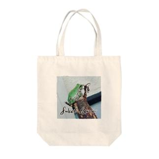 アマガエル。ロゴ入り〜Sweet home〜 Tote bags