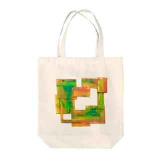 絵描きのフレーム Tote bags