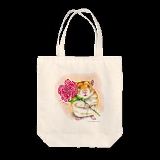 ボールペン画と可愛い動物のありがとう Tote bags