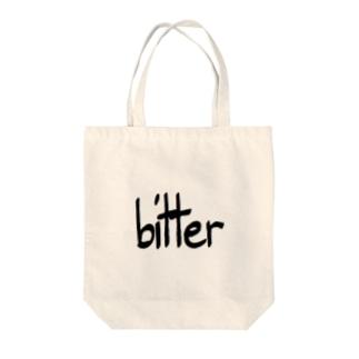 bitter Tote bags