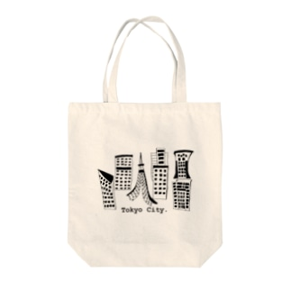 Tokyo city Tote bags