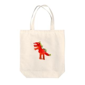 ベリベリーダイナソー Tote bags