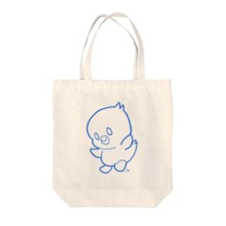 ぴよ Tote bags