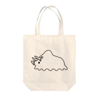 【オバケキョウリュウ】トリケラトプス Tote bags