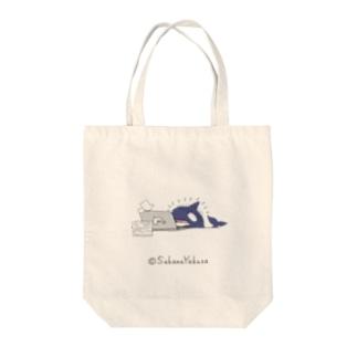 社畜×シャチ=シャ畜 Tote bags