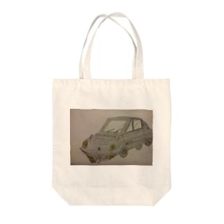 ぼくが描いたコスモスポーツ Tote bags