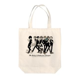 上から部長と6人の書店員(薄色ボディ推奨) Tote bags