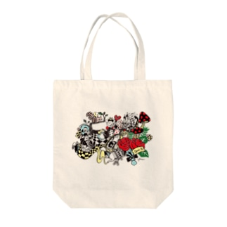 Illustrator Kentaro Hisa Webshopの不思議の国のアリス Tote bags