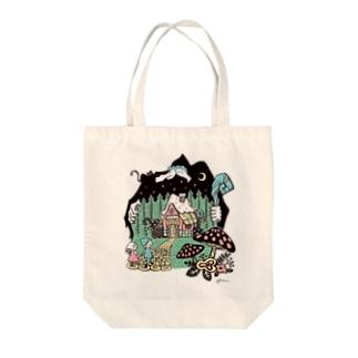 ヘンゼルとグレーテル Tote bags