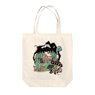 Illustrator Kentaro Hisa Webshopのヘンゼルとグレーテル Tote bags